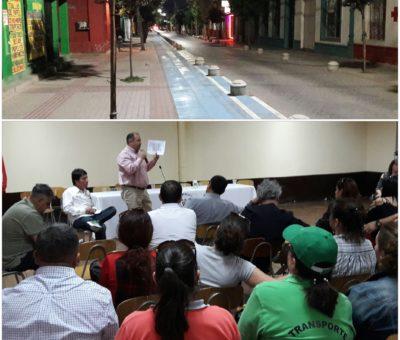 Comerciantes y ciclistas protestarán para rechazar y defender ciclovías en el centro de San Felipe