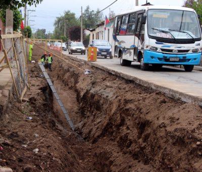 Piden aminorar tiempos de espera en corte de tránsito por obras de alcantarillado San Rafael – Curimón