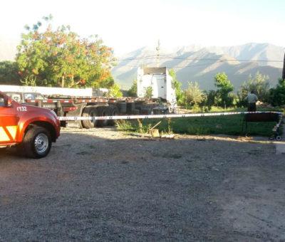 Conductor muere aplastado por cabina de camión en Panquehue