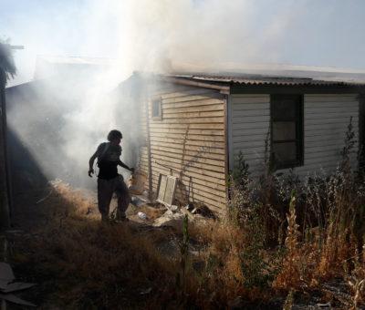 Incendio intencional afectó vivienda en estacionamiento de Prodemu en San Felipe