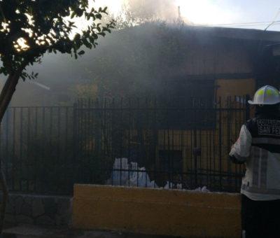 Pérdidas millonarias deja incendio en dos casas en población La Santita en San Felipe