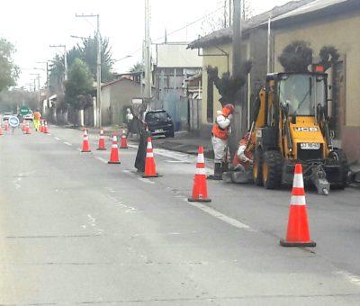 Paralizan obras de alcantarillado en San Rafael por falta de pagos