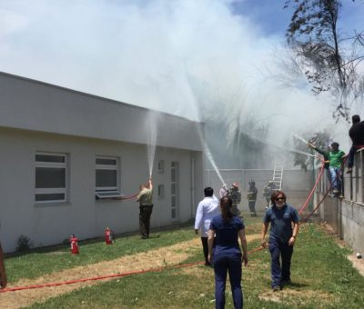 Incendio puso en peligro  casas, cesfam y jardín infantil en Panquehue