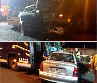 Joven conductor muere en colisión de auto con bus en Rinconada