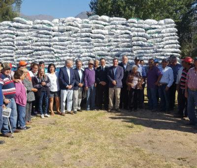 En Catemu partió entrega de forraje para animales en la región