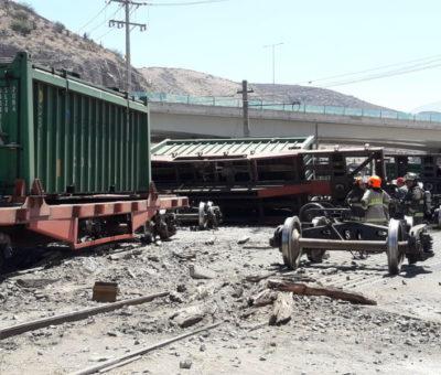 """""""Perno de riel cortado"""" habría provocado descarrilamiento de tren metalero en San Felipe"""