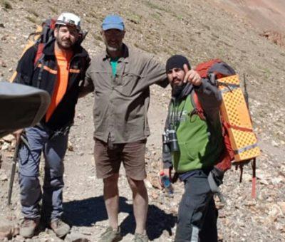 Sano y salvo rescatan a francés perdido en la Cordillera al interior de San Esteban
