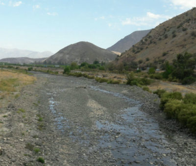 Caudal del río Aconcagua llega a niveles críticos