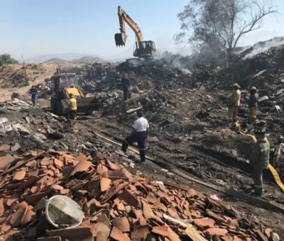 """Tras semanas de arder logran controlar incendio subterráneo en sector """"Bicicross"""" en Los Andes"""