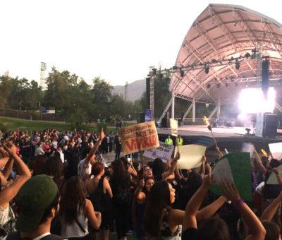 """Con """"funa"""" a show de Fabricio culminó marcha 8M en Los Andes"""