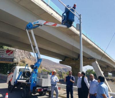 Instalan cámaras lectoras de patentes en ingreso a San Felipe por el puente El Rey