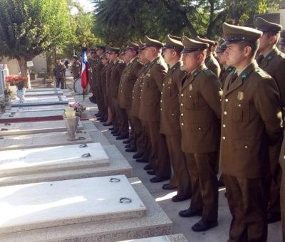 Prefectura de Carabineros de Aconcagua rindió homenaje a sus mártires por sus 92 años