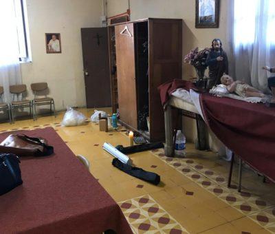 Delincuentes estuvieron a punto de incendiar la Iglesia de Almendral en San Felipe