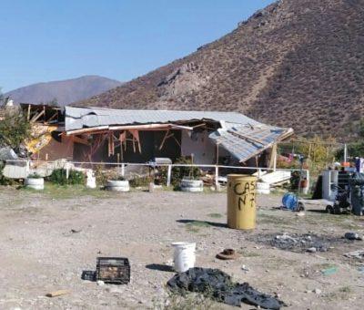 Juzgado de Policía Local de Putaendo ordenó desalojo y demolición de casa en toma de terrenos en el sector La Granja