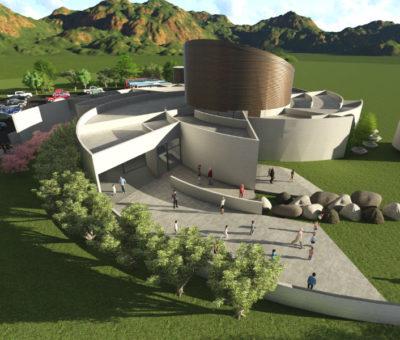 Instalación de primera piedra da el vamos a construcción de Planetario 3D en Calle Larga
