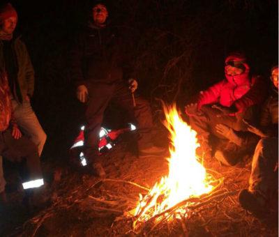 De madrugada rescatan a excursionistas extraviados en la precordillera de San Esteban