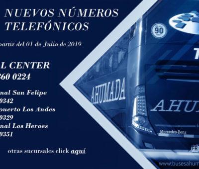 Buses Ahumada incorpora línea 600 y cambia sus números telefónicos