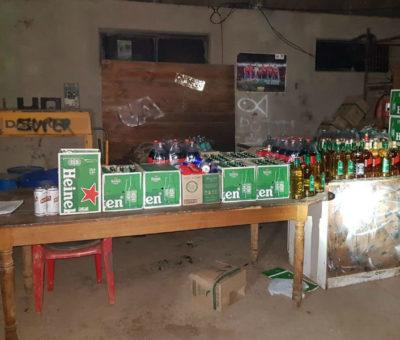 Carabineros incauta gran cantidad de alcohol en discotheque clandestina en Tres Esquinas
