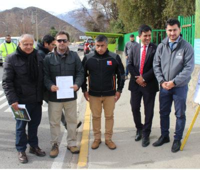 MOP inicia nuevos proyectos de seguridad vial en el  Camino Internacional