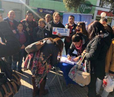 """Con presencia del Senador Girardi lanzan en San Felipe campaña nacional """"Agua de Todos"""""""