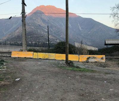 Vialidad cierra en Panquehue paso de Calle Vieja en El Escorial a la Ruta CH-60