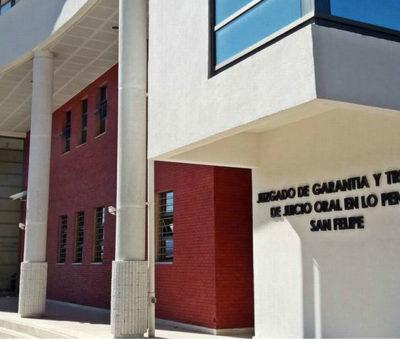 Gendarme evitó suicidio de imputado por tráfico de drogas en tribunales de San Felipe