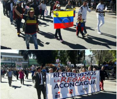 Inmigrantes, protesta y Región de Aconcagua marcaron desfiles en festejos de los 279 años de fundación de San Felipe