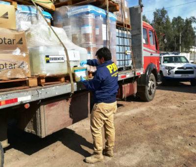 PDI de Los Andes detiene a banda criminal dedicada al robo de camiones de carga