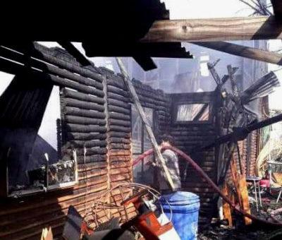 Casa fue completamente destruida por incendio en Catemu