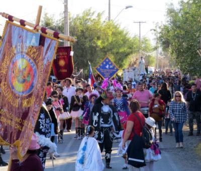 """Multitudinaria participación tuvo la Fiesta Patronal de la """"Virgen de las Nieves"""" en Calle Larga"""