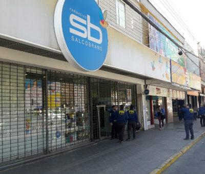 Millonario botín se llevan delincuentes que robaron farmacia Salcobrand en San Felipe