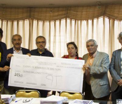 Bomberos de San Felipe recibieron en su totalidad subvención municipal del 2018 – 2019