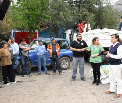 Municipalidad de Los Andes ha entregado 12 toneladas de alimentos a crianceros afectados por la sequía
