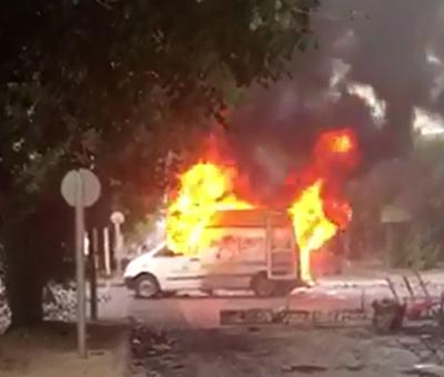 Vandalismo se hizo sentir en Los Andes con incendios y saqueos