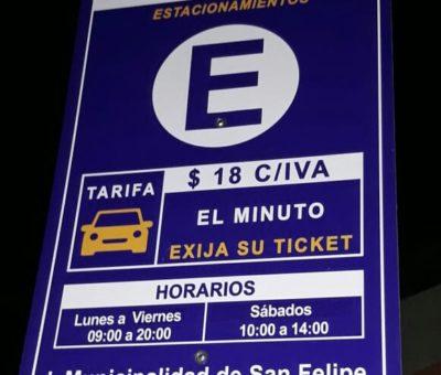 Con error que anuncia multa por no pago volvió cobro de Parquímetros en San Felipe