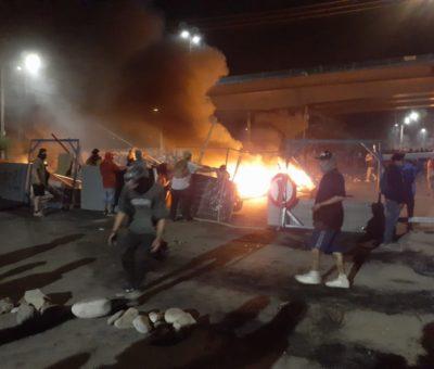 Barricadas, marchas, vandalismo y saqueos tuvo Huelga Nacional en provincia de San Felipe