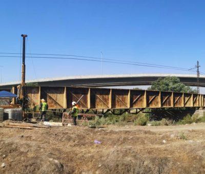Amenazan a empresa que hace sondeos geotécnicos para reparación del puente ferroviario de San Felipe
