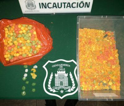 En chis pop rellenos y trozo de carne intentaron ingresar droga a la cárcel de Los Andes