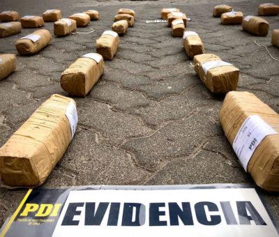 """PDI en peaje Las Vegas incautó cargamento de marihuana """"Cripy"""" avaluada en más de 208 millones de pesos"""