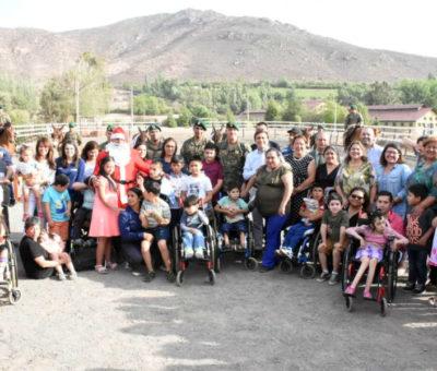 90 niños de Los Andes fueron beneficiados el 2019 con programa de Equinoterapia