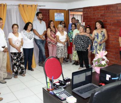 Población Arturo Prat en Panquehue inaugura oficina administrativa de APR