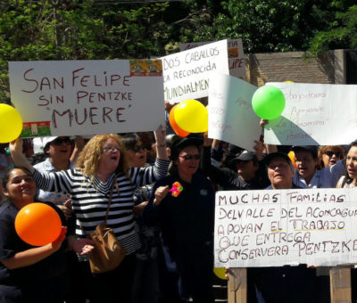 Trabajadores de la Conservera Pentzke este lunes fueron despedidos