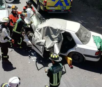 Mujer de 81 años muere en colisión vehicular en camino Paso Basaure en Calle Larga