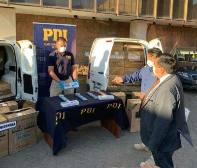 PDI de Los Andes detiene a 4 funcionarios de Aduanas que integraban banda que traficaba cigarrillos