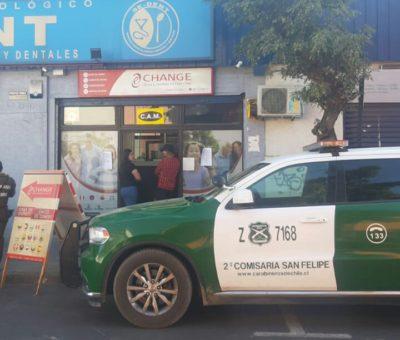 Banda de ocho delincuentes asaltaron a mano armada casa de cambio en San Felipe