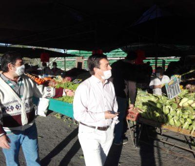 Medirán temperatura a personas que concurran a la feria libre de Los Andes